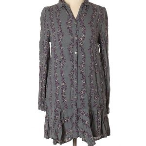 Free People Floral 3/4 Sleeve Tunic